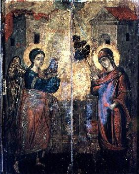 The Annunciation (oil on two panels)