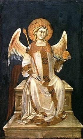 Angel Seated on a Throne, the Orb in one hand, the Sceptre in the other