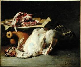 Still Life of a Chicken and Cutlets