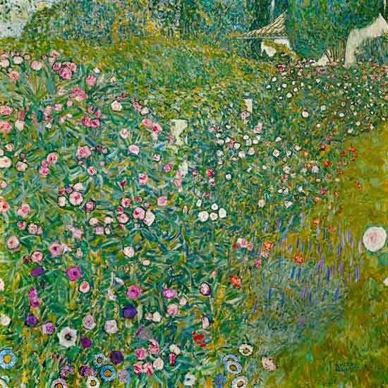 Paysage de jardin italien peinture huile sur toile de gustav klimt for Paysage de jardin
