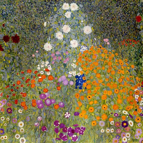 Jardin de cottage , Gustav Klimt
