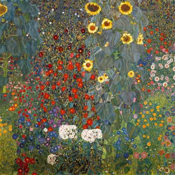 Jardin Aux Tournesols Peinture Huile Sur Toile De Gustav Klimt En Reproduction Imprimee Ou Copie Peinte A L Huile Sur Toile