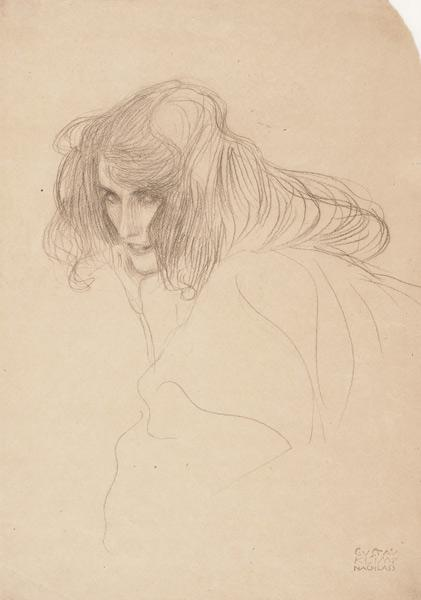 Study of a woman's head in three-quarter profile (Study for Unchastity in the Beethoven Frieze)
