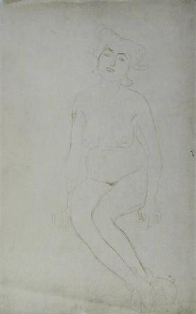 Nude Woman Seated