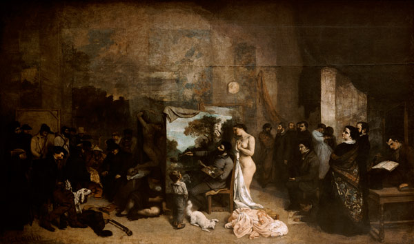 the studio of the artist gustave courbet. Black Bedroom Furniture Sets. Home Design Ideas