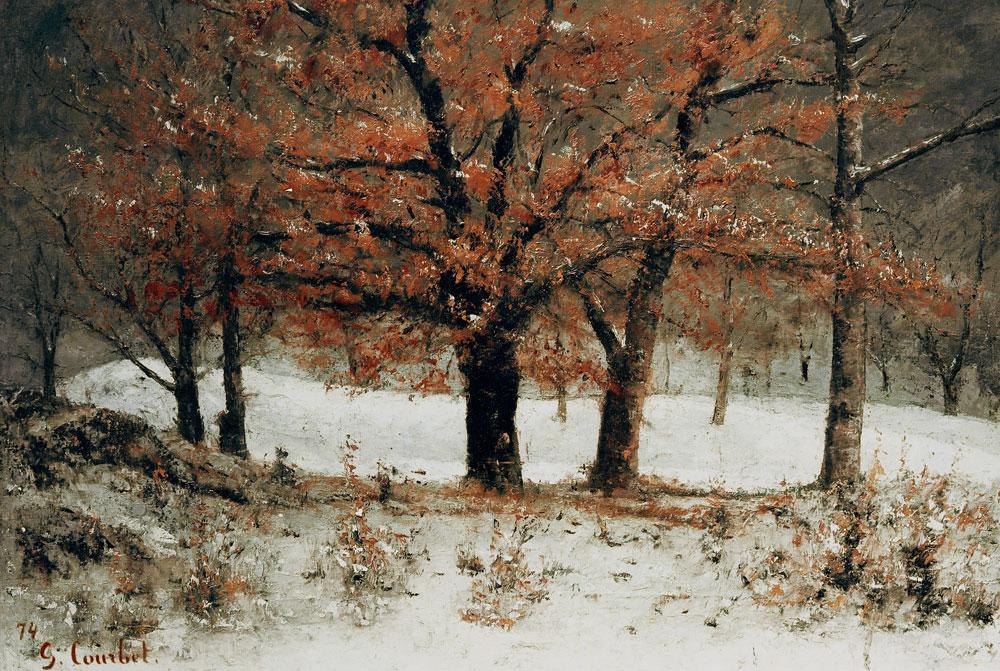 - Gustave Courbet en reproduction imprimée ou copie peinte à l'huile sur toile