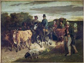 Courbet, Gustave : The Peasants of Flagey Ret...