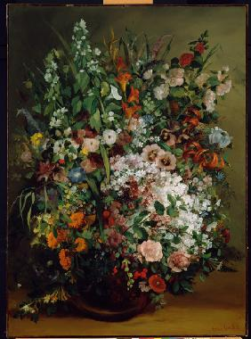 Courbet, Gustave : Bouquet of Flowers in a Va...