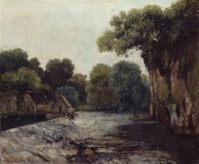Courbet, Gustave : The Weir at the Mill