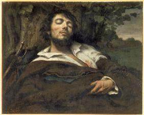 Courbet, Gustave : The Wounded Man (L'Homme b...