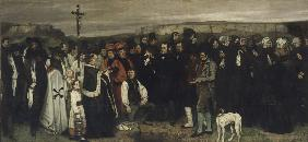 A Burial at Ornans (A Painting of Human Figures, the History of a Burial at Ornans)