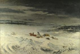 Courbet, Gustave : The Diligence in the Snow