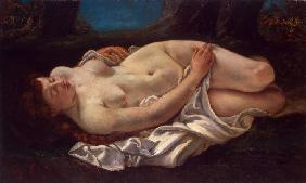 Courbet, Gustave : Reclining Woman