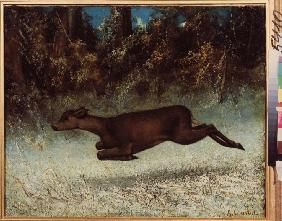 Courbet, Gustave : Doe leaping
