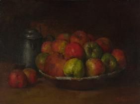 Courbet, Gustave : Still Life with Apples and...
