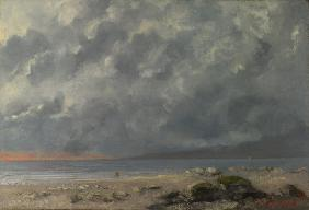 Courbet, Gustave : Beach Scene