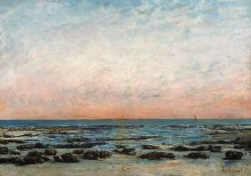 Courbet, Gustave : Sunset, Trouville
