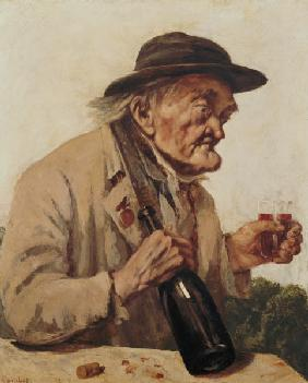 Courbet, Gustave : Old Man with a glass of wi...