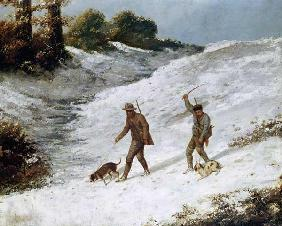 Courbet, Gustave : Poachers in the Snow