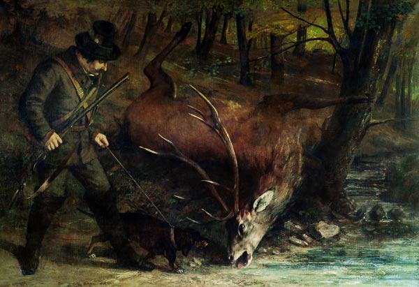 Courbet, Gustave : The Death of the Stag