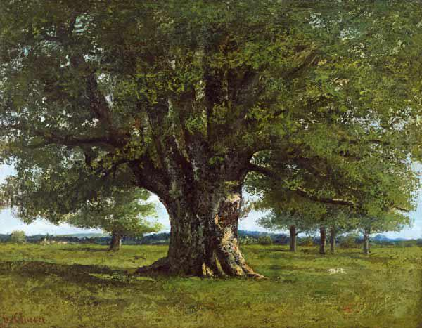 Courbet, Gustave : The Oak of Flagey, called ...