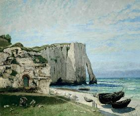 Courbet, Gustave : Cliff at Etretat