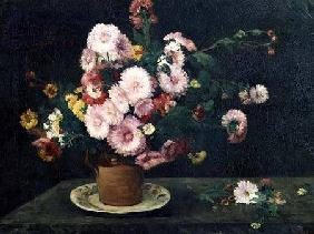 Courbet, Gustave : Still life with asters