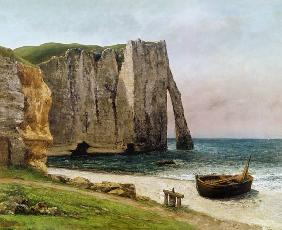 Courbet, Gustave : The Cliffs at Etretat