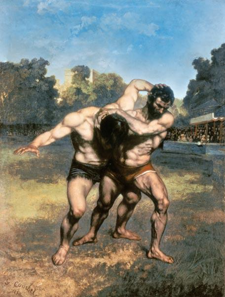 Courbet, Gustave : The Wrestlers