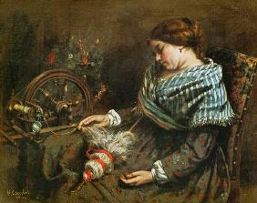 Courbet, Gustave : The Sleeping Embroiderer