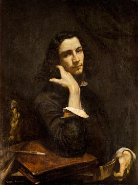 Courbet, Gustave : The Man with the Leather B...