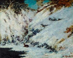 Courbet, Gustave : Snowy Landscape
