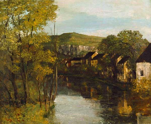 The Reflection of Ornans - Gustave Courbet en reproduction imprimée ou copie peinte à l'huile ...