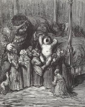 "Illustration to the book ""Gargantua and Pantagruel"" by Rabelais"