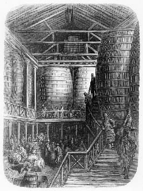 Large barrels in a brewery, from ''London, a Pilgrimage'', written by William Blanchard Jerrold (182
