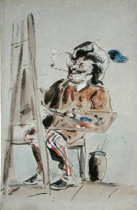 Caricature of an artist