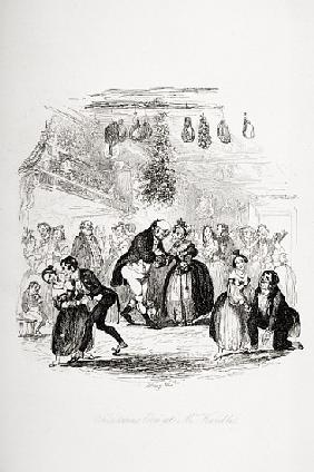 Christmas Eve at Mr. Wardle''s, illustration from `The Pickwick Papers'' Charles Dickens (1812-70) p