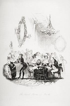 The card room at Bath, illustration from `The Pickwick Papers'', Charles Dickens (1812-70) published