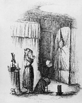 The Middle-Aged Lady in the Double-Bedded Room, illustration from ''The Pickwick Papers'' Charles Di