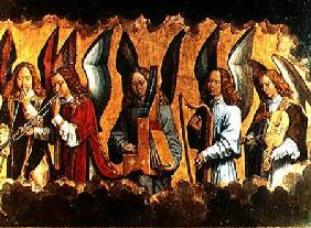 Angels Playing Musical Instruments, right hand panel from a triptych from the Church of Santa Maria