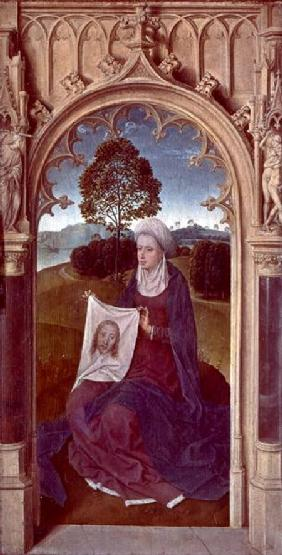 St. Veronica, from the reverse of the Triptych of Jan Floreins