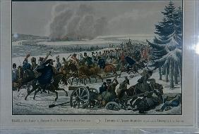The retreat of the French army from Moscow in 1812