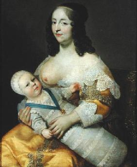The Dauphin Louis of France (1638-1715) and his Nursemaid, Dame Longuet de la Giraudiere
