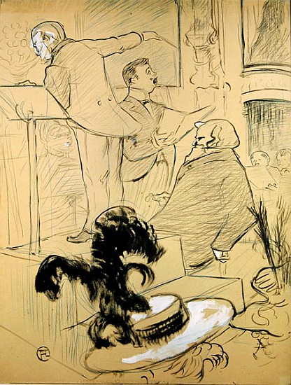 ambroise thomas 1811 96 at a rehearsal henri de toulouse lautrec. Black Bedroom Furniture Sets. Home Design Ideas