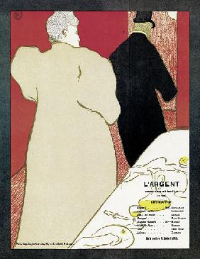 Poster advertising the play 'L'Argent'