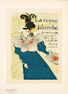 Reproduction of a poster advertising 'La Revue Blanche'