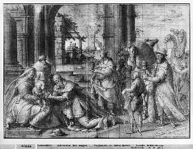 Life of Christ, Adoration of the Magi, preparatory study of tapestry cartoon for the Church Saint-Me