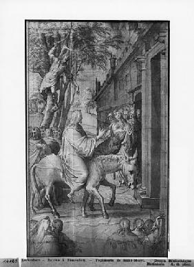 Life of Christ, Entry of Christ into Jerusalem, preparatory study of tapestry cartoon for the Church