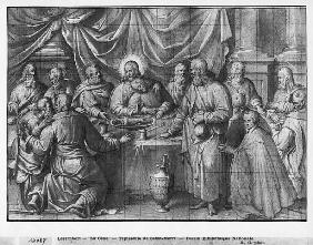 Life of Christ, the Last Supper, preparatory study of tapestry cartoon for the Church Saint-Merri in