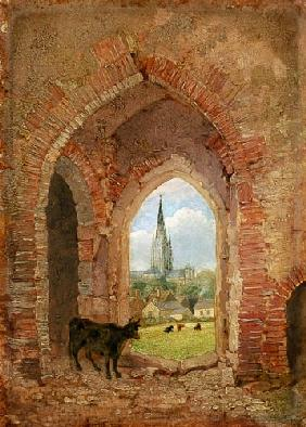 View through the Archway of the Cow Tower, Norwich